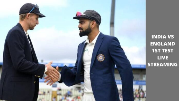 india vs england 1st test live streaming